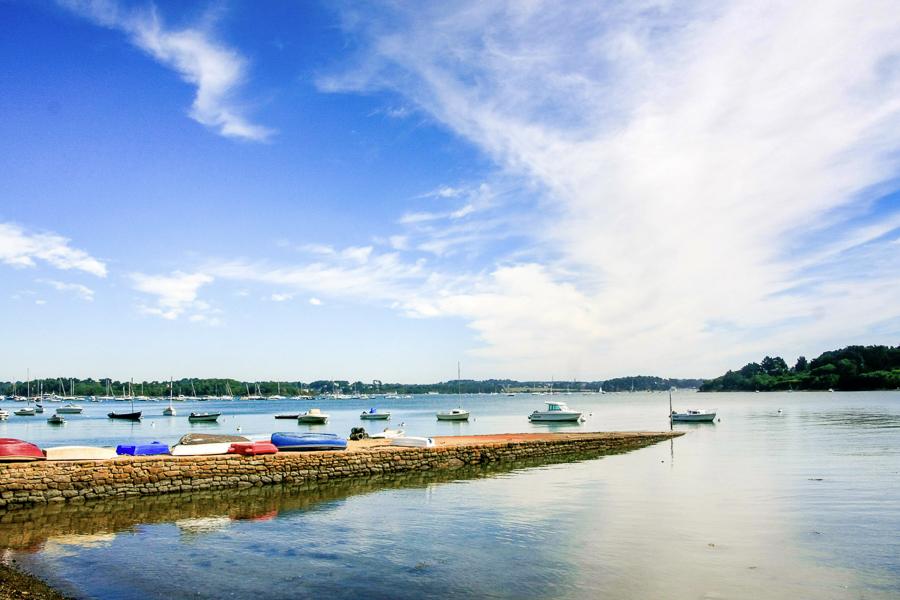 Muelle para las islas del Golfo de Morbihan