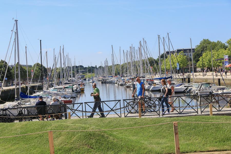 El bonito puerto de Vannes, cerca del camping en el golfo de Morbihan