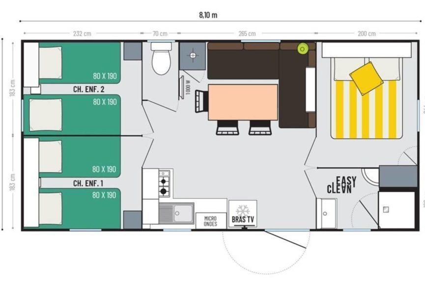 Alquiler de casa móvil - 3 HABITACIONES