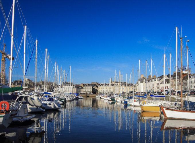 La ciudad de Vannes en el Golfo de Morbihan
